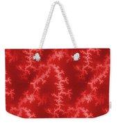 Seamless Fractal Red Weekender Tote Bag