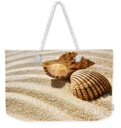 Seashell And Conch Weekender Tote Bag by Carlos Caetano