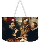 Selfportrait With Brother Philipp Justus Lipsius And Another Scholar Weekender Tote Bag