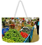 Selling Fresh Vegetables In Antalya Market-turkey Weekender Tote Bag