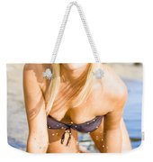 Sensuous Woman Playing With Water Weekender Tote Bag