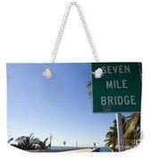 Seven Mile Bridge Florida Keys Weekender Tote Bag