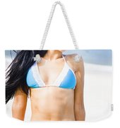Sexy Tanned Beach Woman Weekender Tote Bag