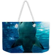 Shark Silhouette Underwater Weekender Tote Bag