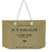 Sheet Music Spiritual Weekender Tote Bag