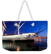 Ship At Night In Stockholm Weekender Tote Bag