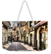 Quiet Shopping Street Before The Shops Open Weekender Tote Bag