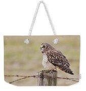 Short Eared Owl Weekender Tote Bag