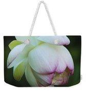 Shy Lotus Weekender Tote Bag