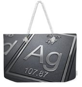 Silver Chemical Element Weekender Tote Bag