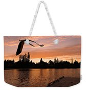 Silver Lake Sunset Weekender Tote Bag