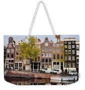 Singel Canal Houses In Amsterdam Weekender Tote Bag