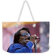Singer James Brown Weekender Tote Bag
