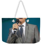 Singer Michael Feinstein Performing With The Pasadena Pops. Weekender Tote Bag