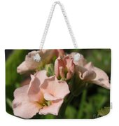 Single Peach Stocks From The Vintage Mix Weekender Tote Bag
