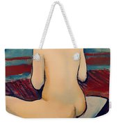 Sitting Nude With Pillow Weekender Tote Bag