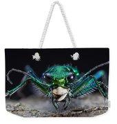Six-spotted Green Tiger Beetle Weekender Tote Bag