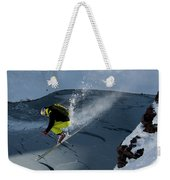 Skier Jumping On A Sunny Day Weekender Tote Bag