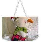 Skiing Snowman Weekender Tote Bag