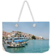 Skopelos Harbour Greece Weekender Tote Bag
