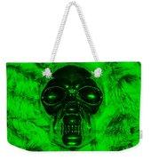 Skull In Green Weekender Tote Bag