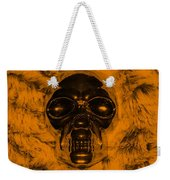 Skull In Orange Weekender Tote Bag