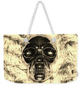 Skull In Sepia Weekender Tote Bag