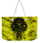 Skull In Yellow Weekender Tote Bag