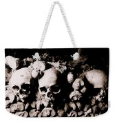 Skulls And Bones In The Catacombs Of Paris France Weekender Tote Bag