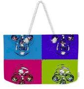 Skulls In Quad Colors Weekender Tote Bag