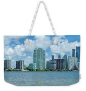 Skylines At The Waterfront, Miami Weekender Tote Bag