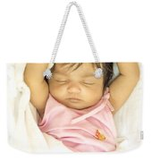 Sleeping Baby Weekender Tote Bag
