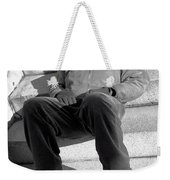 Sleeping On Steps Weekender Tote Bag