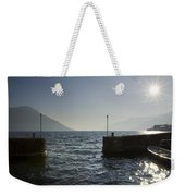 Small Port In Backlight Weekender Tote Bag
