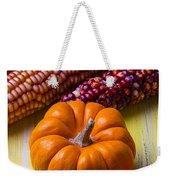 Small Pumpkin And Indian Corn Weekender Tote Bag
