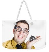 Smiling Man With Bell Weekender Tote Bag