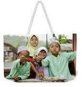 Smiling Muslim Children In Bali Indonesia Weekender Tote Bag