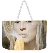 Smoking Hot Corn Cob Woman Weekender Tote Bag