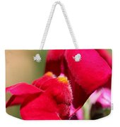 Snapdragon Named Red Chimes Weekender Tote Bag