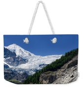Snow Glacier Weekender Tote Bag