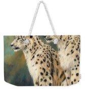 Snow Leopards Weekender Tote Bag