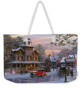Snow Streets Weekender Tote Bag by Dominic Davison