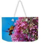 Snowberry Clearwing Hummingbird Moth Weekender Tote Bag
