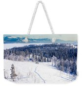 Snowshoe Taiga Trail Landscape Yukon T Canada Weekender Tote Bag