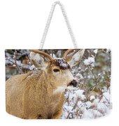 Snowstorm Deer Weekender Tote Bag