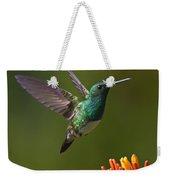 Snowy-bellied Hummingbird Weekender Tote Bag by Heiko Koehrer-Wagner