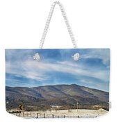 Snowy High Peak Mountain Weekender Tote Bag