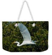 Soaring Snowy Egret Weekender Tote Bag