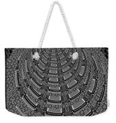 Sparkle Bnw White Pyramid Dome Ancient Arch Architecture Formation Obtained During Deep Meditation W Weekender Tote Bag