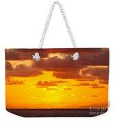 Spectacular Dramatic Orange Sunset Over The Ocean Weekender Tote Bag